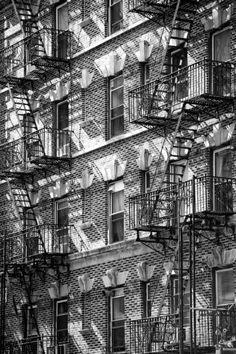 Buildings - Stairs - Emergency - New York City - United States Photographic Print by Philippe Hugonnard at AllPosters.com