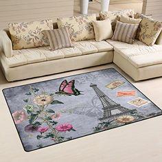 WOZO Starry Sky Constellation Deer Area Rug Rugs Non-Slip Floor Mat Doormats Living Room Bedroom 60 x 39 inches