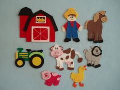 On McDonald's Farm felt story printable templates - Google Search