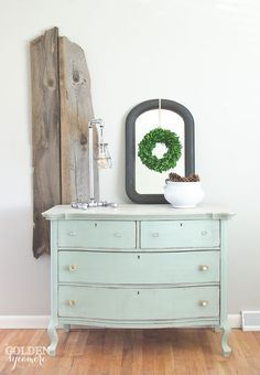 Laylau0027s Mint Milk Painted Dresser. DIY Dresser Makeover | The Golden  Sycamore