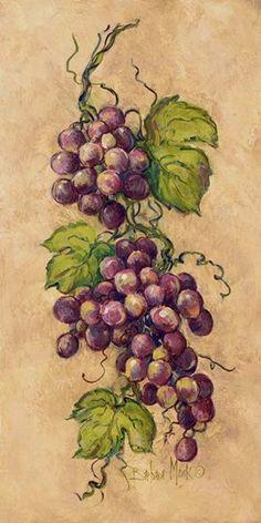 Vintage Grapevine l ~ Fine-Art Print - Tuscan Kitchen Art Prints and Posters - Kitchens Pictures Tuscan Art, Vine Tattoos, Wine Painting, Photo Images, Wine Art, In Vino Veritas, Decoupage Paper, Fruit Art, Kitchen Art