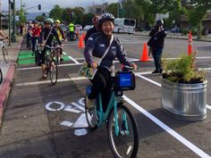 "Oakland's Telegraph Gets ""Pop-up"" Protected Bike Lane on Bike to Work Day   Streetsblog San Francisco"