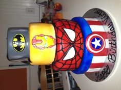 Super Heros Cake -	I needed this two weeks ago!
