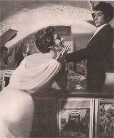 Ruth Neuman, photo by Gleb Derujinsky, Harper's Bazaar 1958   A FLYING ODYSSEY OF FASHION