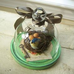 cloche decorating | we love the charm of using garden cloches indoors cloches were ...