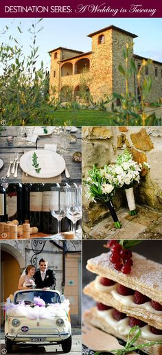 Tuscan wedding inspiration decorations, bouquet, cake, and venue.  #rusticweddings #italianweddings #tuscanweddings