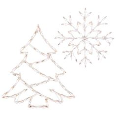 2-D Lighted Holiday Window Decoration Collection
