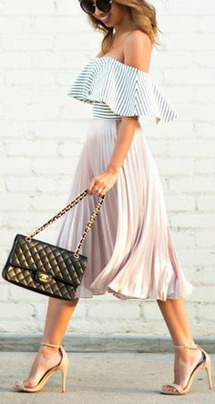 I really like the off the shoulder trend but don't have any clothes that match it! Also, how do you accessorize outer layers with such big ruffles?