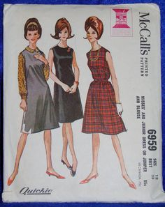 Vintage McCall's Dress Pattern 6959 by DDVintage on Etsy, $5.00