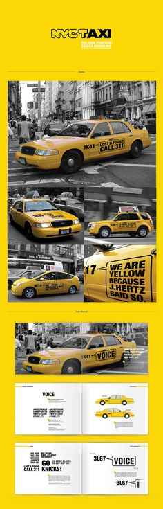 NYC TAXI by kevin cheung, via Behance