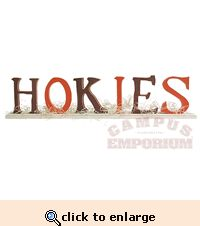 Wooden Letters - HOKIES Holy smokes! I totally just made something VERY similar to this!! wow!