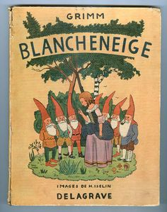 Blancheneige, Snow White, Schneewittchen by the Grimm Brothers, Illustration H. Iselin. BMB Kassel