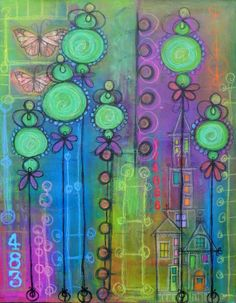 FunCity by MotleySoulArt on Etsy, $150.00