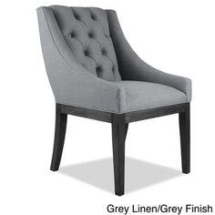 Alexa Linen Dining Chair - Free Shipping Today - Overstock.com - 18994571 - Mobile