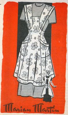 Vintage 60s Marian Martiin 9138 Full APRON Sewing by sandritocat, $35.00