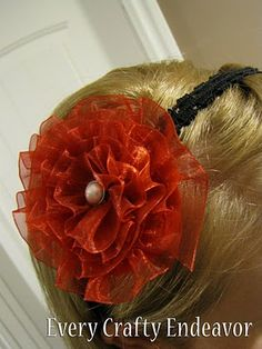 Ribbon Hair Clip, trying this one next!