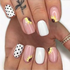 80 Cute Short Nail Art Design Ideas You can Copy in 2020 Summer - ibaz Cute Nail Art Designs, Short Nail Designs, Acrylic Nail Designs, Acrylic Nails, Nail Designs Spring, Marble Nails, Cute Short Nails, Short Gel Nails, Short Nails Art