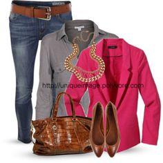 Hot Pink,Grey & Denim