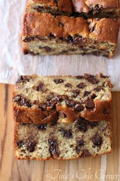 Chocolate Chip Banana Bread by Tinas Chic Corner