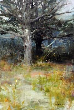Sugar Maple, oil by Richard Schmid