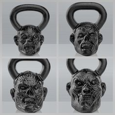 Zombies and kettle bells both look to rip you up! These are the faces that I make when swinging kettle bells!