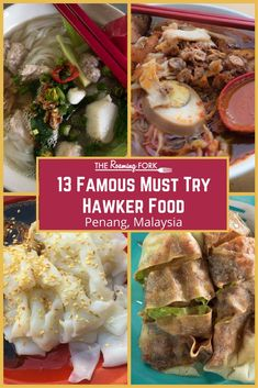 In Penang, there is no shortage of must-try famous hawker food. The competition for your custom is fierce which produces high quality and delicious dishes. World Street Food, Asian Street Food, Malaysian Cuisine, Malaysian Food, Tasty Dishes, Food Dishes, Malaysia Penang, Malaysia Travel, Asia Travel