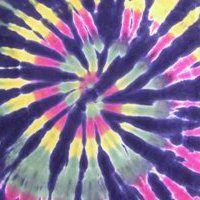 Learn How To Tie Dye this Rastaman Spiral on Black Tie Dye T-Shirt!