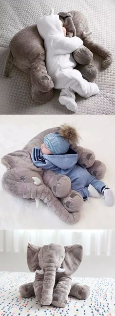 Giant Elephant Baby Pillow - - You and your little one will absolutely love this amazing Baby Elephant Pillow. It also makes the perfect baby shower gift! The Babys, Baby Shower Niño, Shower Bebe, Baby Showers, Diy Shower, Elephant Pillow, Baby Elephant Nursery, Stuffed Elephant For Baby, Elephant Baby Clothes