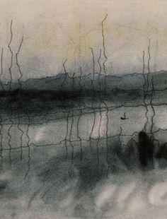Lyonel Feininger - detail on Mystic River (1951)