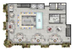 rooftop bar floor plan - Google Search