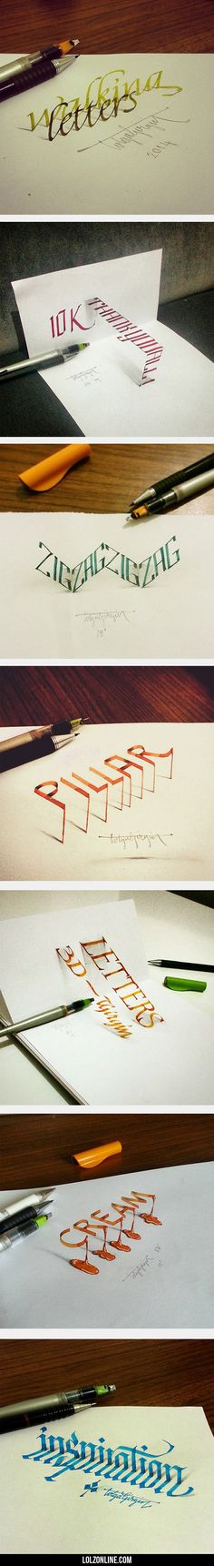 Beautiful Examples Of Anamorphic Lettering#funny #lol #lolzonline