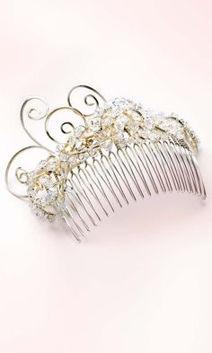 DIY Bridal Swarovski Crystal Beads and Wire Hair Comb. Jewelry for the hair.