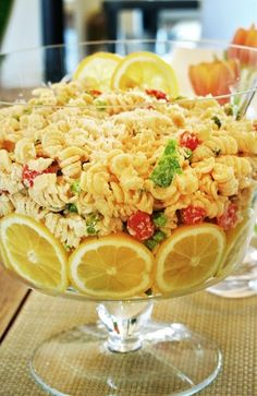 We guarantee this lemon pasta dish will be the star of your next BBQ or picnic!  Plus, it's simple to make and looks delicious.