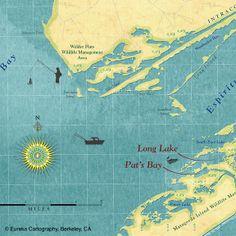 Favorite Fishing Spots © Eureka Cartography, Berkeley,CA