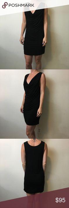 Haute Hippie Black Sleeveless Cowl Neck Dress Haute Hippie Dress black with a short style and a draped neck. Sleeveless and super cute perfect little black dress! Haute Hippie Dresses