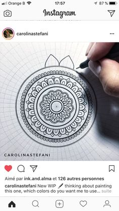 Mandala Aid for a perfectly round mandala Mandalas Drawing, Mandala Painting, Dot Painting, Mandala Doodle, Mandala Art Lesson, Sun Mandala, Doodle Patterns, Zentangle Patterns, Zentangles