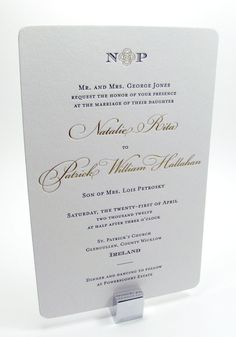 Gold printing wedding invitations by DigbyRose on Etsy, $15.00