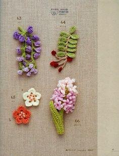 Crochet Mini Flower Motif Book - photo page Freeform Crochet, Crochet Motif, Crochet Doilies, Crochet Stitches, Cute Crochet, Irish Crochet, Crochet Crafts, Crochet Projects, Crochet Flower Patterns