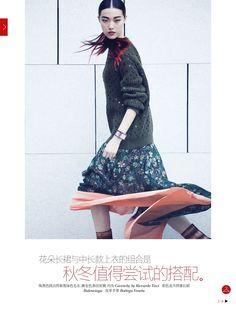 Tian Yi in Vogue China August 2013 by Yin Chao