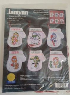 Janlynn Snowbabies Mitten Personalized Ornament Kit Counted Cross Stitch 56-135 #Janlynn #Ornaments