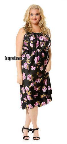 Designer Plus Size satin charmeuse semiformal evening holiday party dress clothing clubwear