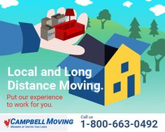 Whether you're moving locally or long distance, put our experience to work for you. Contact us today! #localmoving #campbellmoving #longdistance #internationalmoving #movingcompany #gtamovers #movers