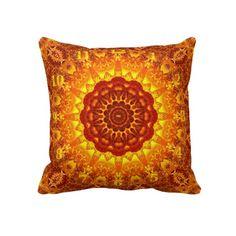 Fire-Watch Mandala Pillow