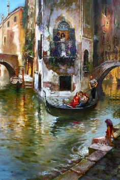 Viola In Venice by Ylli Haruni ~ oil on canvas