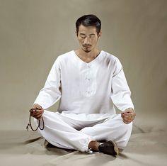 2be9a0cc827321 Free Shipping - Men White Zen Clothes for Meditation, Tai Chi, Yoga, Smart  Casual Wear, Home loungewear