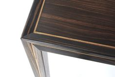 Macassar coffee table - top detail and corner joint.