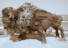John Lopez (1200×849) Animal Sculptures, Sculpture Art, Buffalo Art, Iron Art, Junk Art, South Dakota, Yard Art, Artist At Work, Metal Art