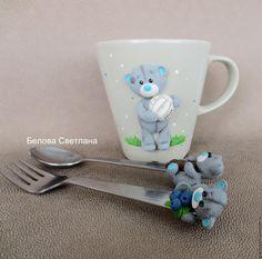 Купить Набор посуды Мишка-тедди - бежевый, мишка тедди, мишка тедди на кружке