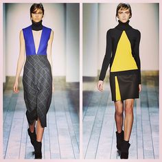 Longer lengths, bright blues & a slice of sunny lemon as Victoria Beckham continues to evolve the brand #nyfw #aw13 #latergram #colour #mbfw