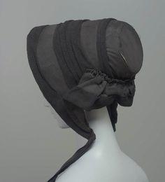 Mourning Bonnet, 1840-1845, via The Metropolitan Museum of Art